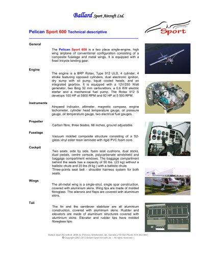 Pelican Sport 600 Technical descriptive