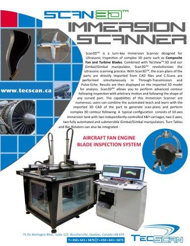 Scan3D Ultrasonic Immersion Scanner