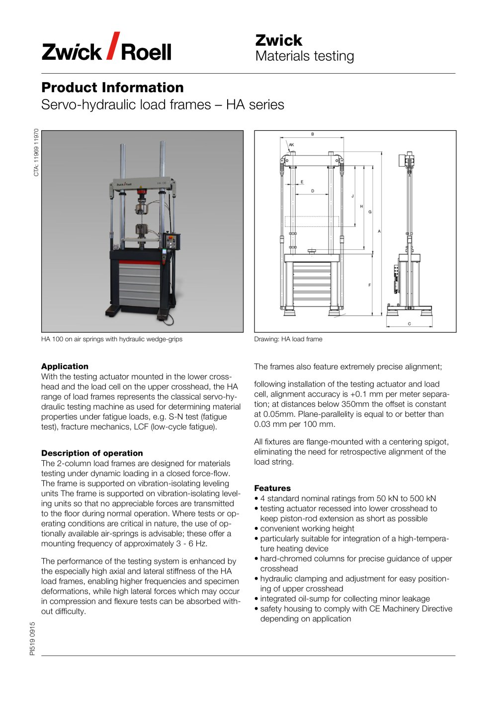 Servo-hydraulic load frames – HA series - ZWICK GMBH & CO. KG - PDF ...
