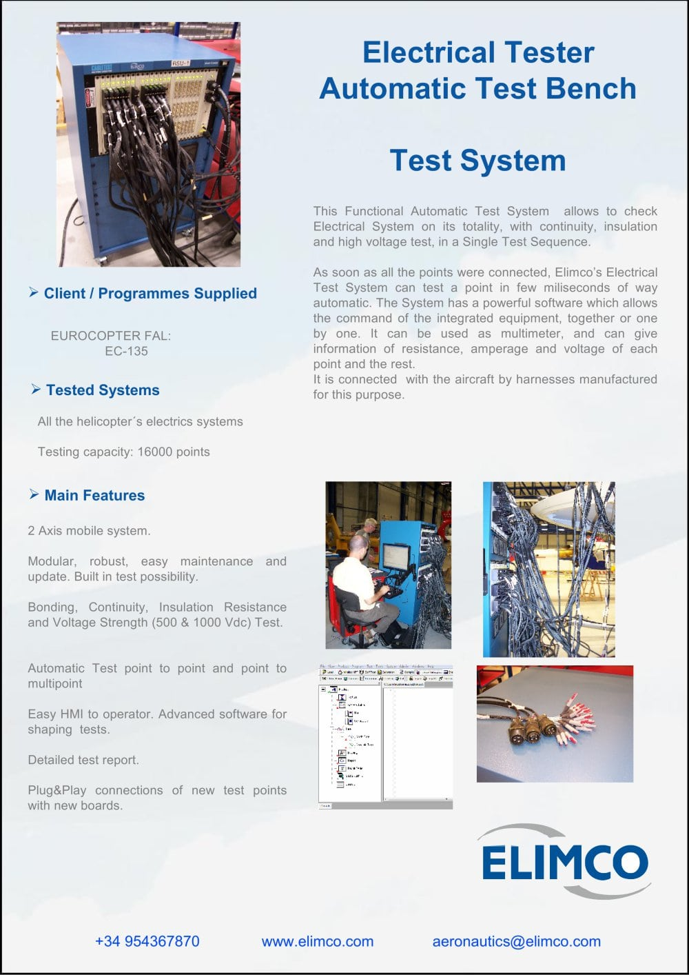 Electrical Tester Elimco Aerospace Pdf Catalogue Technical Voltage Testers Online 1 Pages