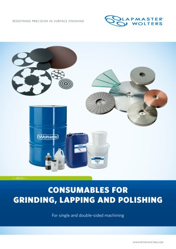 Consumables for Grinding, Lapping and Polishing