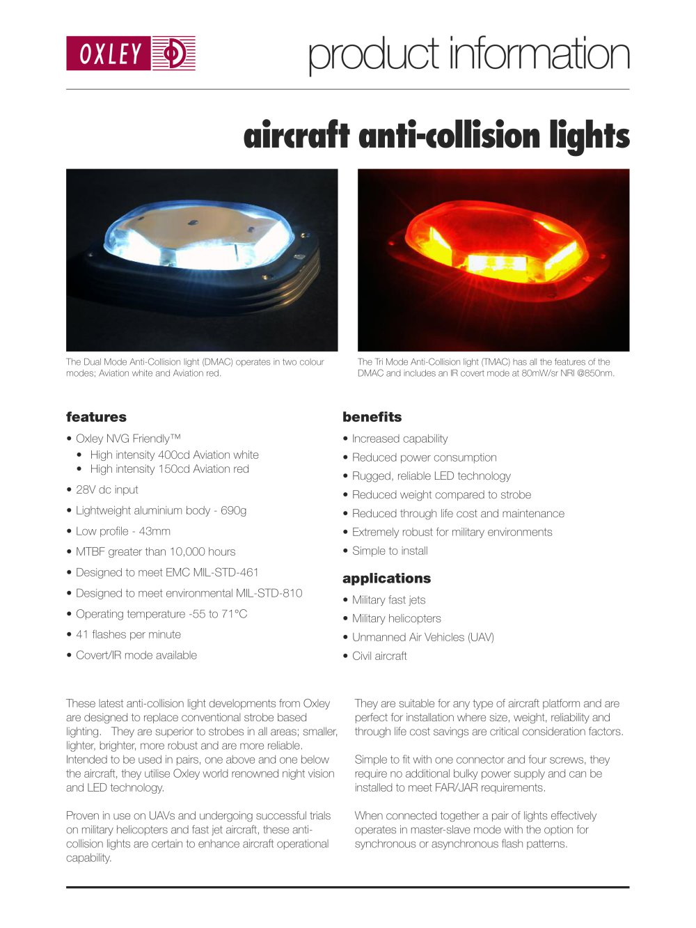 Aircraft Anti Collision Lights   1 / 2 Pages