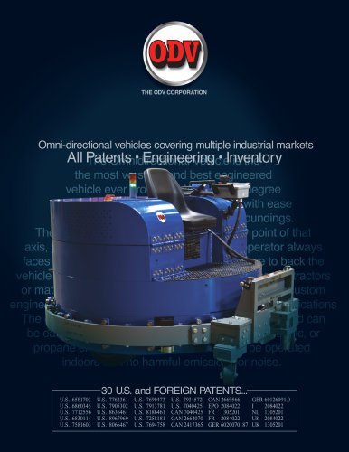 Omni-directional vehicles covering multiple industrial markets
