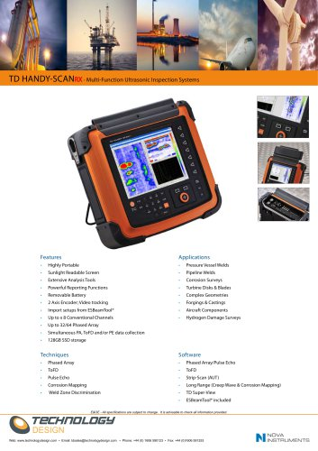 TD HANDY-SCANRX - Multi-Function Ultrasonic Inspection Systems