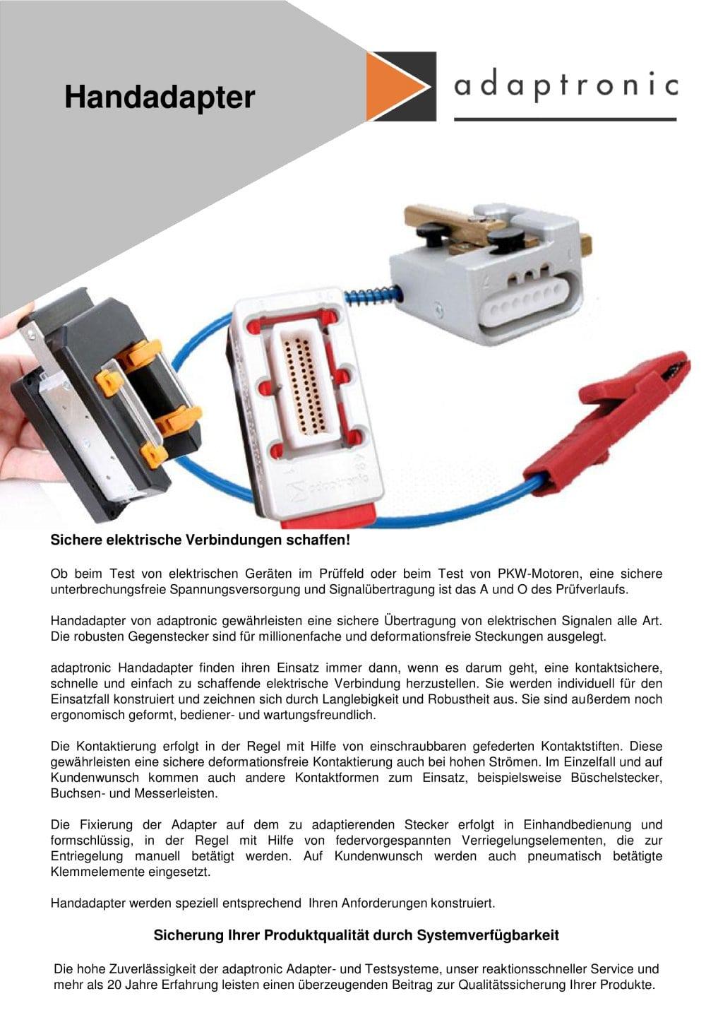 Handadapter - adaptronic Prueftechnik - PDF Katalog | technische ...