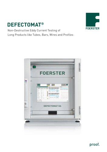 DEFECTOMAT ® - Foerster Instruments - PDF Catalogs