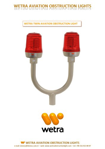 WETRA  TWIN AVIATION OBSTRUCTION LIGHT