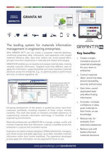GRANTA MI - Granta Design - PDF Catalogs | Technical