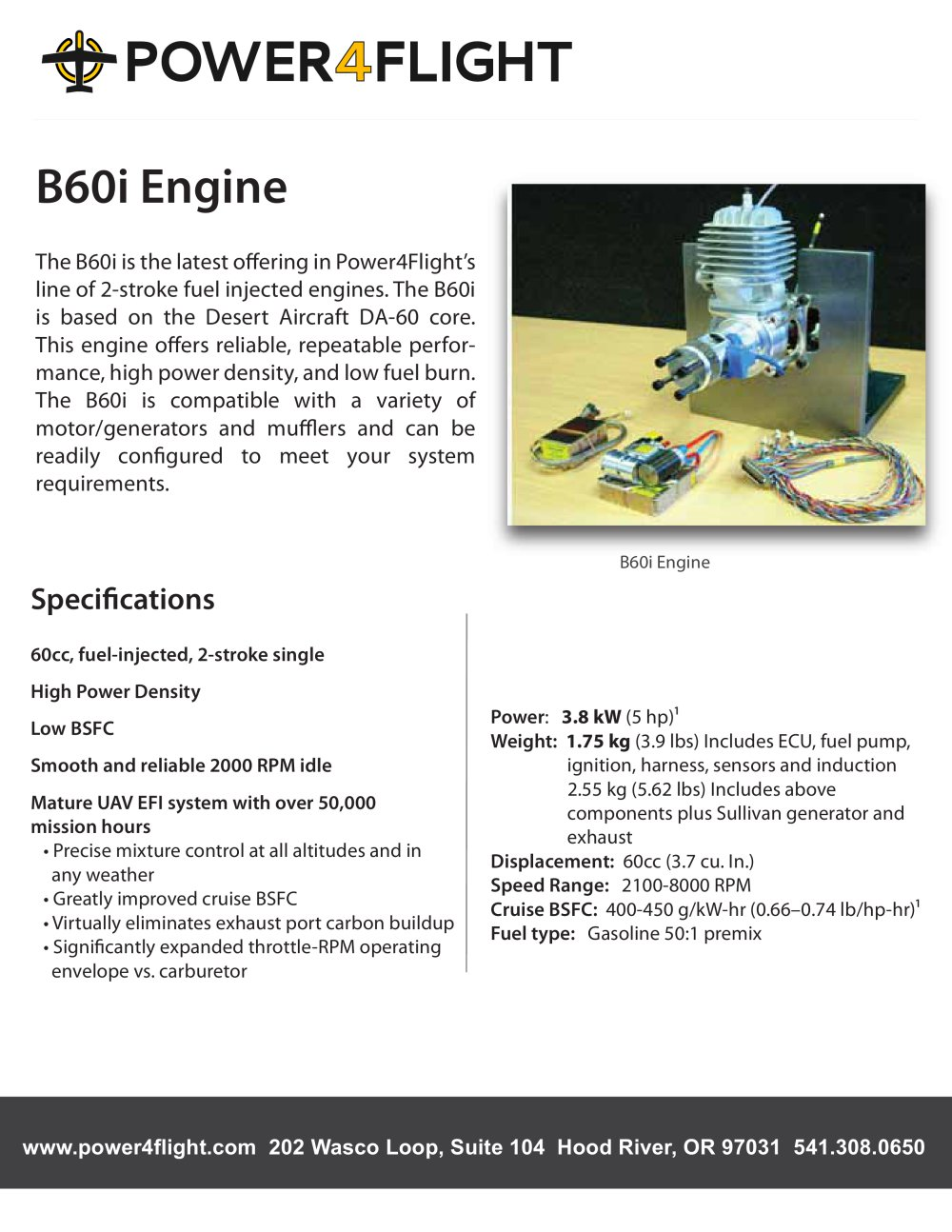 B60i Engine - Power4Flight LLC - PDF Catalogue | Technical ...