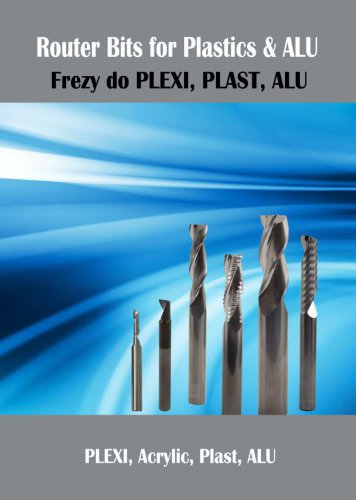 Solid carbide routers for Alu and Plex - N-POL cutting tools