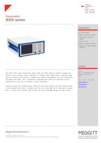 8000 series gaussmeters