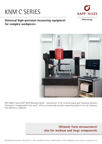 Universal high-precision measuring equipment | KNM C