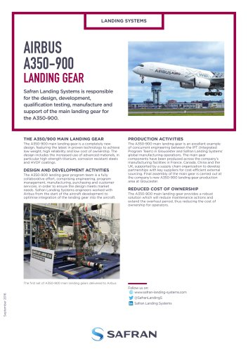 AIRBUS A350-900 LANDING GEAR