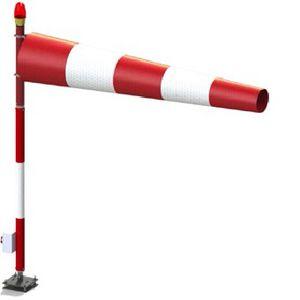 Windsack für Flughäfen / mit Mast