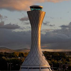 Kontrollturm für Flughäfen / für Luftverkehrsmanagement