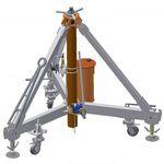 Wagenheber für Flugzeuge / hydraulisch / dreifüßig / pneumatisch