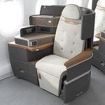 Sitz für Geschäfsflugzeug / für Businessklasse / mit verstellbarer Kopfstütze / konvertierbar