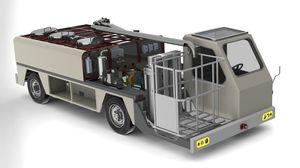 vehículo de abastecimiento de agua potable autónomo / con cesta / para aeropuerto