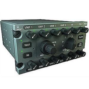 panel de audio UHF / para helicóptero / montado en panel