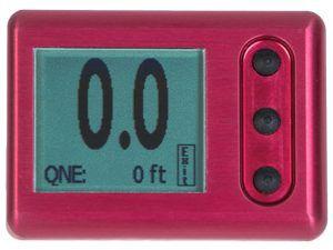 altímetro digital / en pies o en metros / portátil / para vuelo libre