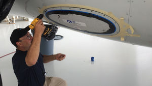 cristal para luz de navegación para avión de línea / no especificado