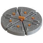 plaqueta de anclaje anticaídas de acero / de hormigón / con contrapeso
