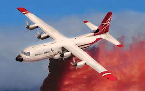 avion bombardier d'eau retardant / avec turbopropulseur