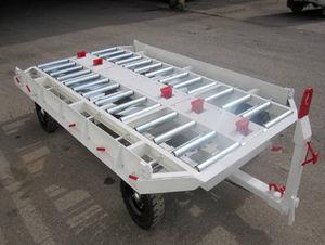 remorque porte-conteneur / à 2 essieux / pour aéroport