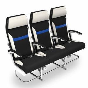 siège pour cabine d'avion / pour classe économique / pour passagers / avec accoudoirs
