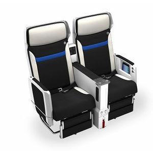 siège pour cabine d'avion / pour classe économique / pour business class / avec accoudoirs