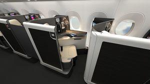 siège pour cabine d'avion / pour business class / avec accoudoirs / avec écran intégré