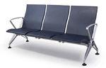 sièges sur poutre pour aéroport / 3 places / en métal / en plastique