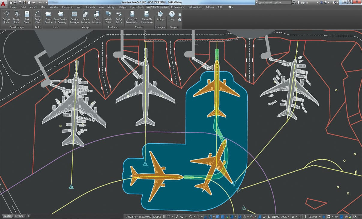 Simulation software / design / for airports - AVIPLAN TURN