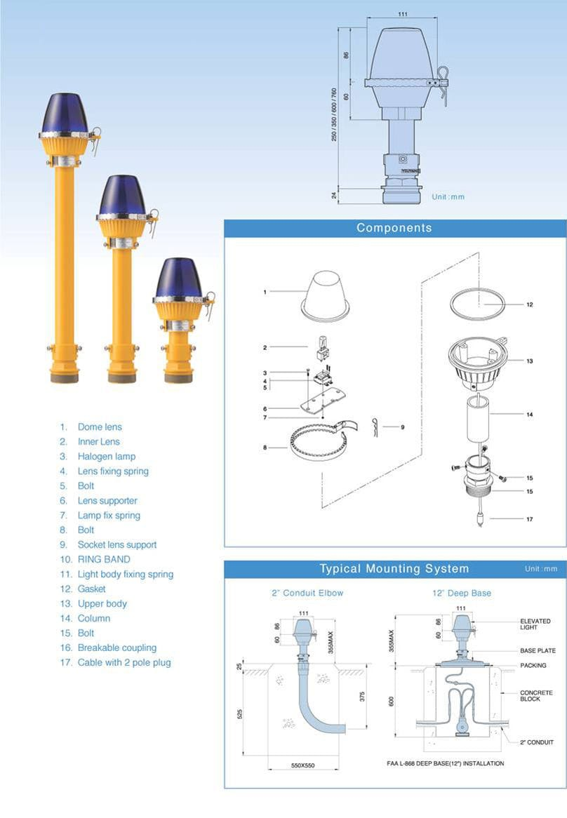 Taxiway light / for airports / LED / white - ELD - YOUYANG