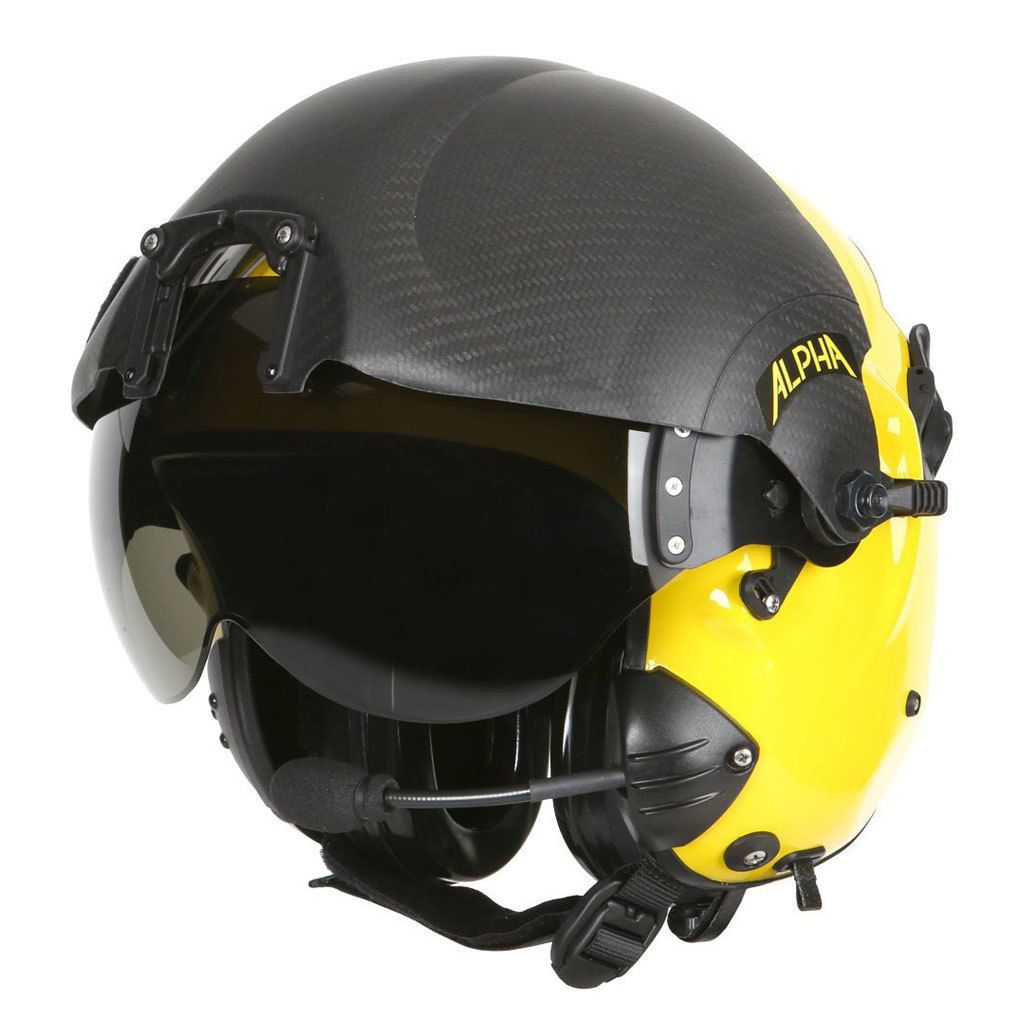 Helicopter helmet / half jet / with visor - ALPHA 900