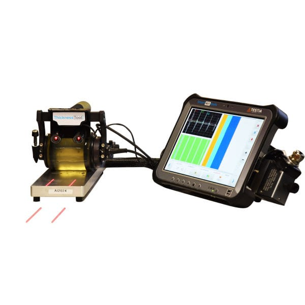 Multi-material thickness gauge / digital display / for NDT