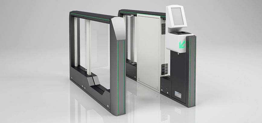 Self-boarding gate with boarding pass reader - Magnetic Autocontrol Group -  for airports