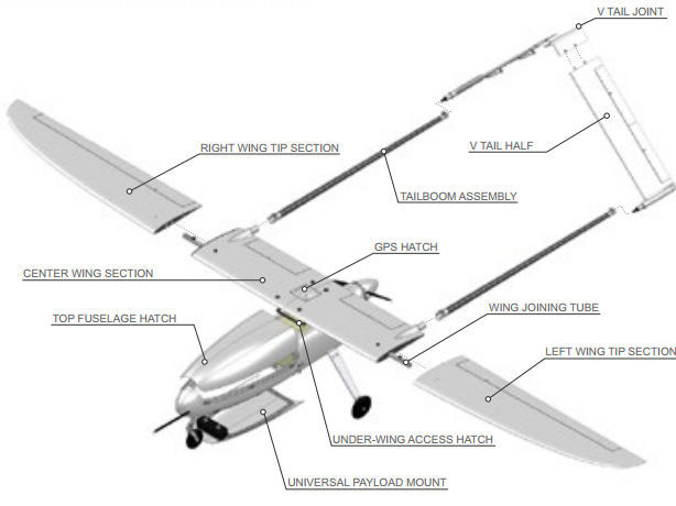 Surveillance drone / fixed-wing / piston engine - Penguin B