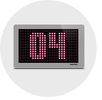 LCD queue display / wall-mounted / for airports - Linear