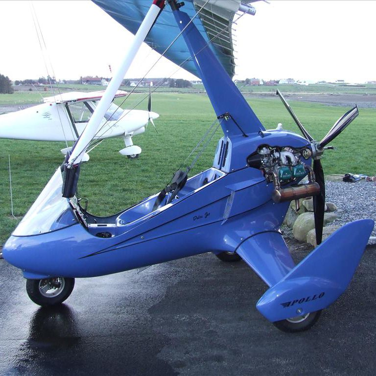 Two-seater ultralight trike aircraft / 4-stroke engine