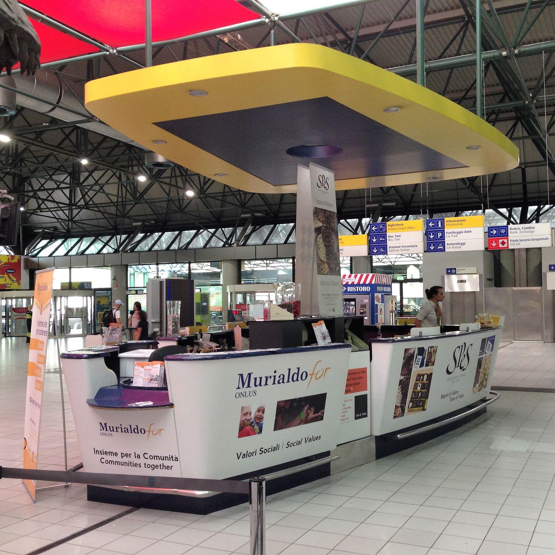 Hoekbank Palerno Pronto.Information Counter Sales For Airports Banco