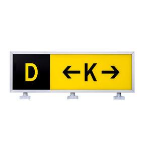 information sign / static / for runways / LED