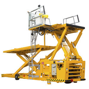scissor high loader / freight / with shelves / for airports