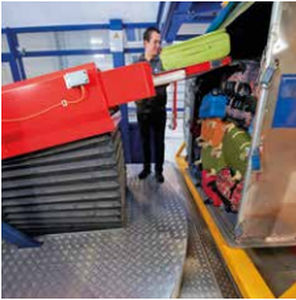 loading robot / handling / single-axis / baggage