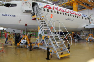 fuselage access platform / nose / movable / fixed