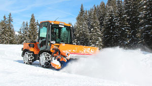 airport snow plow / with brush / with tilting blade