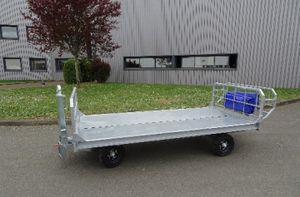 ground support baggage trailer