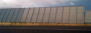 metal jet-blast deflector / for airports