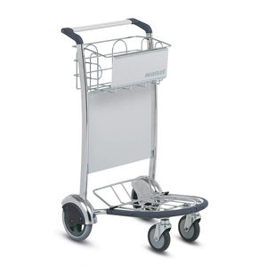 airport terminal luggage trolley