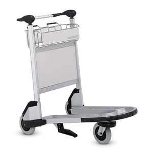 airport terminal luggage trolley / for passengers / 3-wheel / aluminum